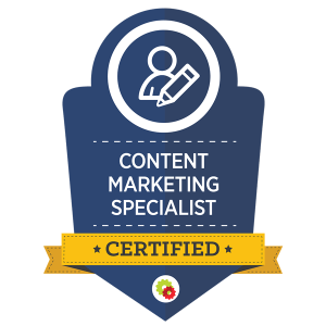 certified content marketing specialist by digital marketer - Online Marketing Specialist