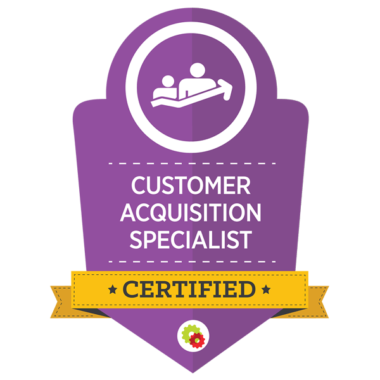 Michele Peterson earns Certified Customer Acquisition Specialist designation