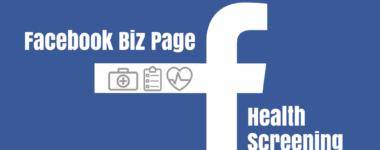 Facebook Biz Page Health Screening Offered