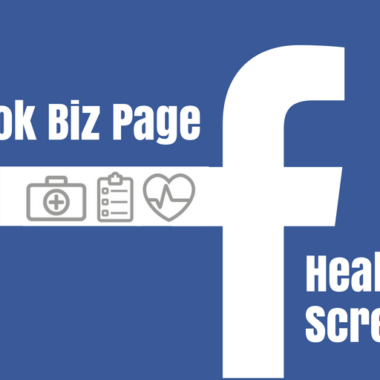 Facebook Biz Page Health Screening Offered