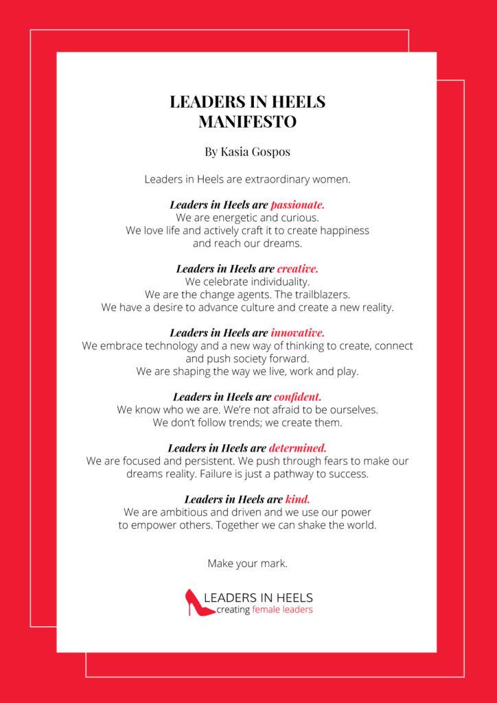 Leaders In Heels Manifesto